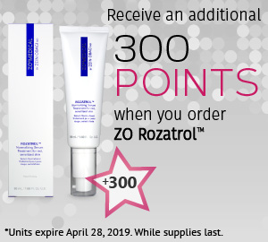 Receive an additional 300 points on ZO ROZATROL™ Normalizing Serum