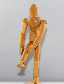 dummy image of someone with knee pain