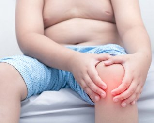 Obese person with knee pain