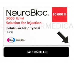 neurobloc and myobloc side effects listed